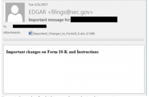 email supposedly from SEC